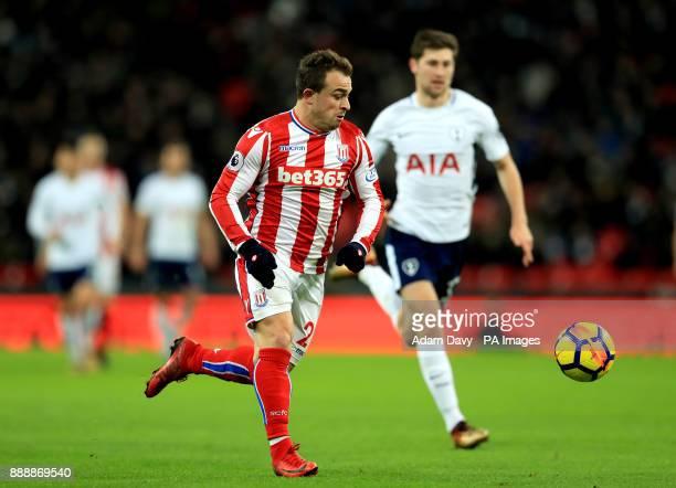 Stoke City's Xherdan Shaqiri during the Premier League match at Wembley Stadium London