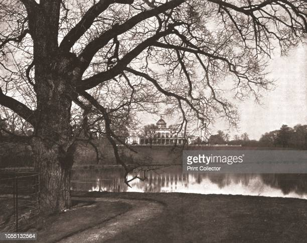 Stoke Park Stoke Poges Buckinghamshire 1894 Georgian mansion in parkland From Beautiful Britain views of our stately homes [The Werner Company of...
