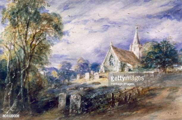 Stoke Poges Church', Buckinghamshire, 1833. From the collection of the Victoria & Albert Museum, London. Artist John Constable.