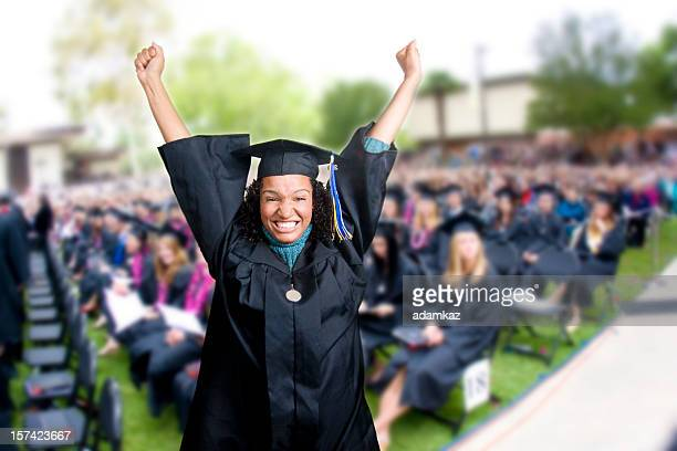 stoked graduate! (series) - graduation crowd stock pictures, royalty-free photos & images