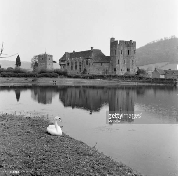 Stokesay Castle in Stokesay, Shropshire, 21st April 1961.