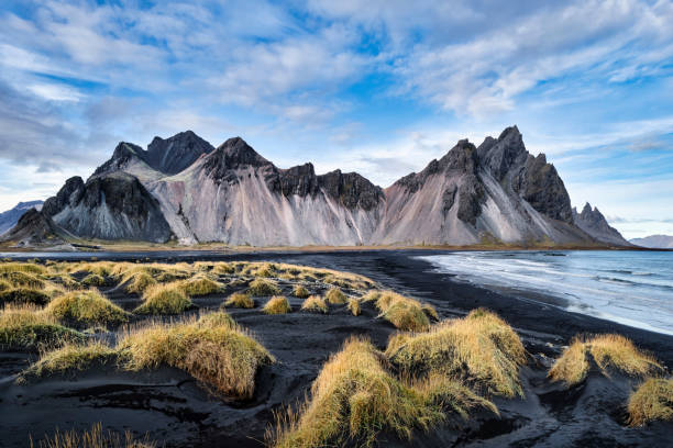 Stokksnes beach at Vestrahorn mountain range, Höfn, Eastern Region, Iceland