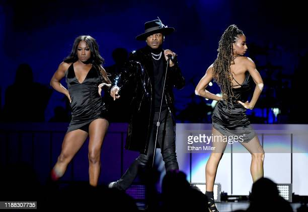 Stokley Williams of Mint Condition performs onstage at the 2019 Soul Train Awards presented by BET at the Orleans Arena on November 17 2019 in Las...
