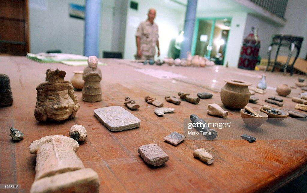 Antiquities Returned to Iraqi National Museum : News Photo