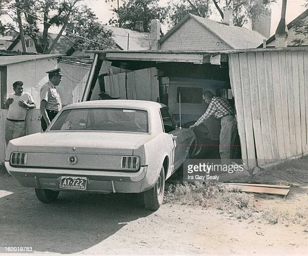 MAY 28 1966 MAY 31 1966 Stolen Car Crashes Into Garage Two teenage boys were arrested for investigation Mon¡day after this car rammed into a garage...