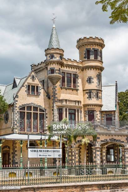 stollmeyer's castle in port of spain trinidad and tobago - port of spain stock photos and pictures