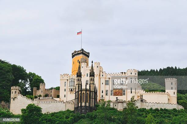 stolzenfels castle along the rhine river, germany - ogphoto stock pictures, royalty-free photos & images