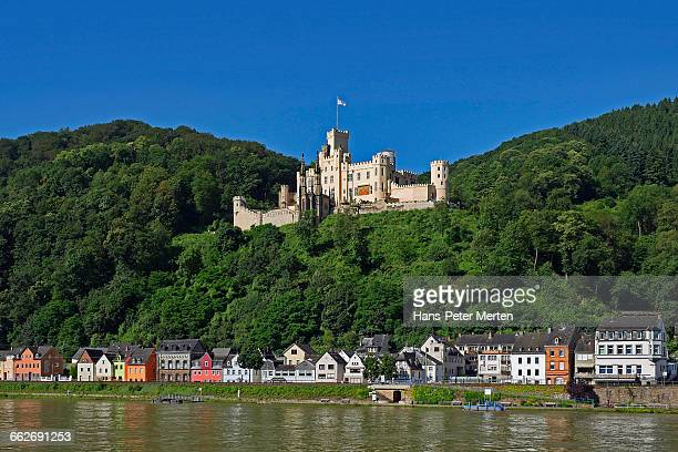 stolzenfels castle, koblenz, rhine valley - コブレンツ ストックフォトと画像