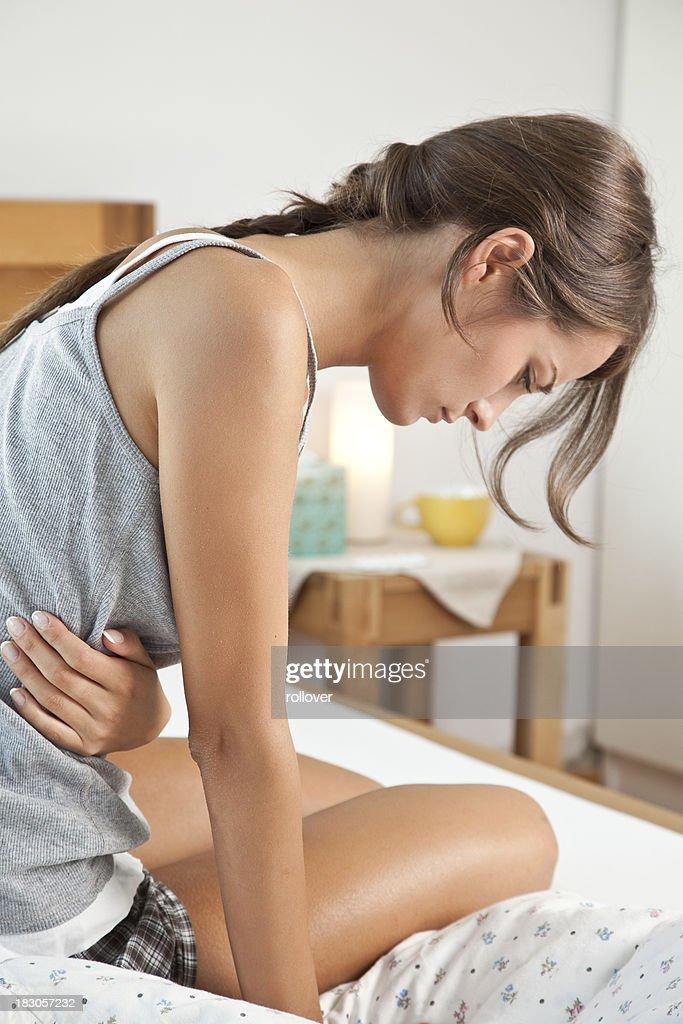 Stomach cramps : Stock Photo