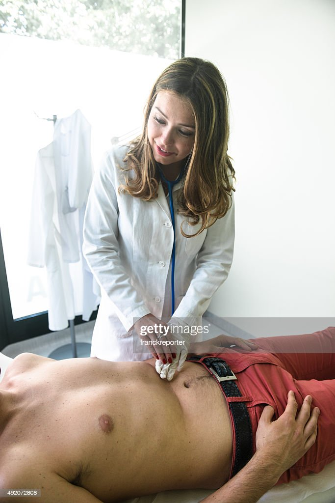 Stomach medical examination : Stock Photo