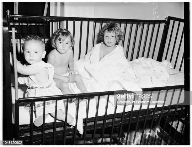 Stomachs pumped after swallowing thyroid pills 08 October 1951 Sharon Lynn Buttee 11 monthsJo Ann Buttee 4 Diana Caldwell 3 1/2
