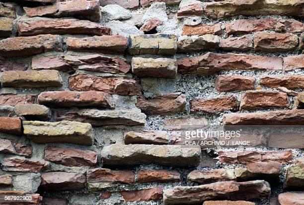 Stone and brick wall Bejaia Algeria