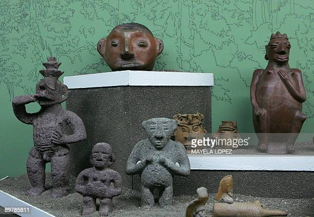 STORY Stone and clay figures are displayed on August 13 in the exhibition of preColumbian objects in Costa Rica's National Museum in San Jose The...