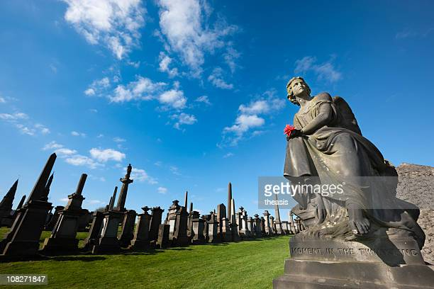 stone angel - tomb stock pictures, royalty-free photos & images