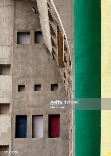 stone apartment exterior - chandigarh stock pictures, royalty-free photos & images