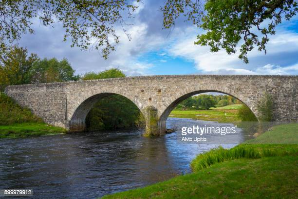 Stone Arch bridge over River Cassley near Rosehall, Scotland