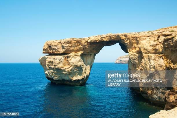 Stone arch Gozo island