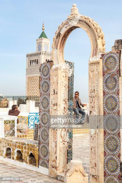 stone arch in the medina of tunis - tunis stock pictures, royalty-free photos & images
