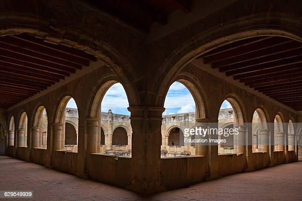 Stone Archways In The Courtyard Of The 16Th Century Convent Of Cuilapan The Former Monastery Of Santiago Apostol Cuilapan De Guerrero Mexico Near...