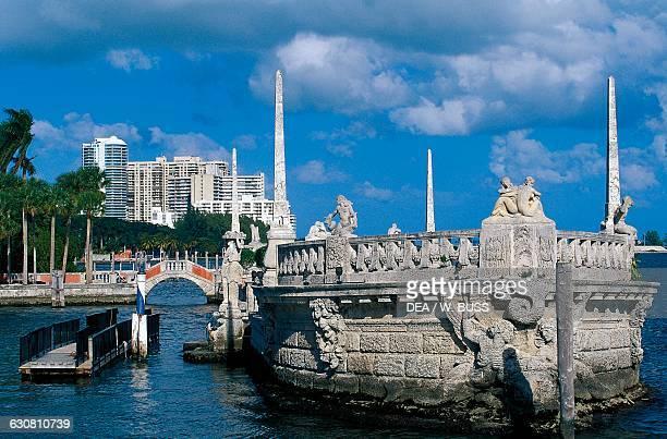 Stone barge Villa Vizcaya 19141923 Biscayne Bay Miami Florida United States of America 20th century