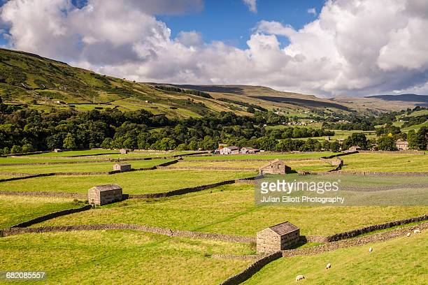 Stone barns near Gunnerside in the Yorkshire Dales