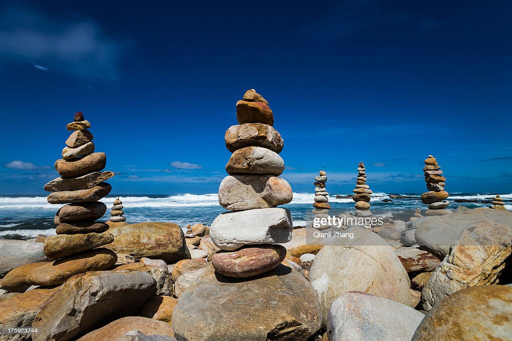 Stone beside Cape of Good Hope : Stock Photo