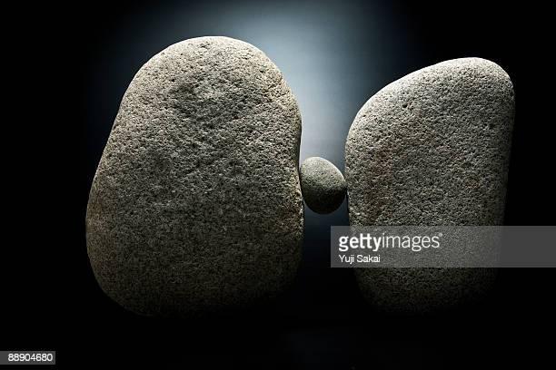 stone between the bigger stones