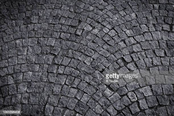 stone blocks in the walkway - patterned paving tiles - cobblestone stock pictures, royalty-free photos & images