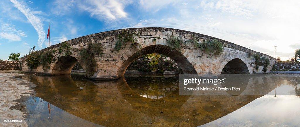 Stone bridge at the entrance to Tarsus on the Ankara-Adana road : Stock Photo