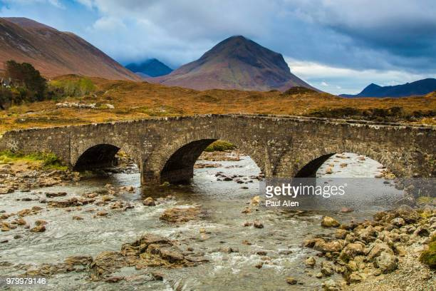 Stone bridge over river, Munro Mountain, Scotland