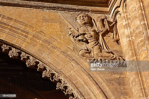 Stone carving of Malaga Cathedral
