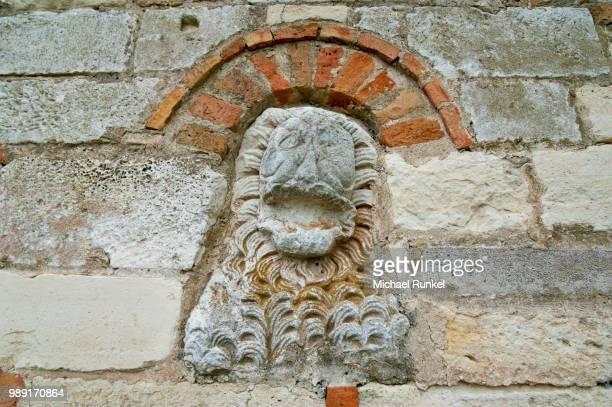 Stone carving, Roman ruins of Apollonia, Albania