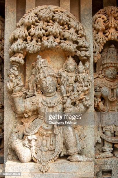 stone carvings on the walls of keshava temple in somanathapura on the outskirts of mysore - soapstone stock pictures, royalty-free photos & images