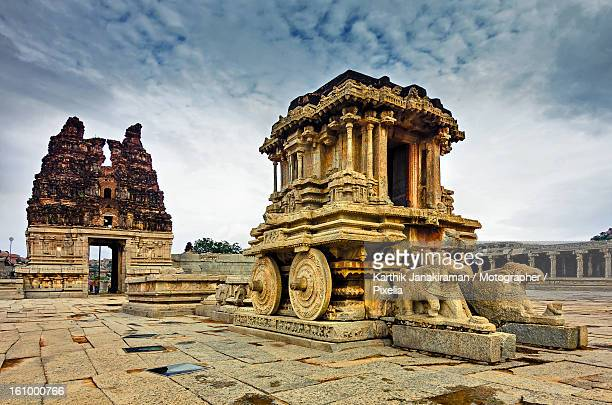 Stone chariot at Vijaya Vittala Temple in Hampi