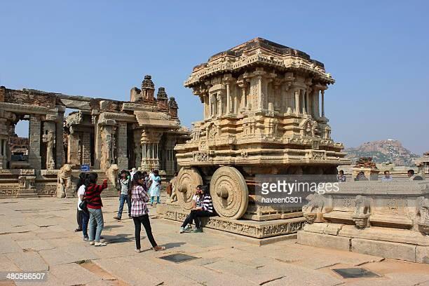 Stone Streitwagen im Vittala Tempel Komplex in Hampi