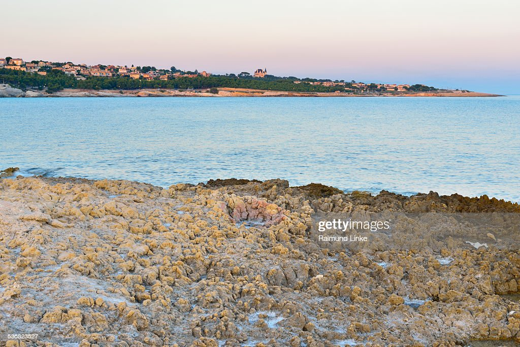 Stone Coast at Dawn : Stock Photo