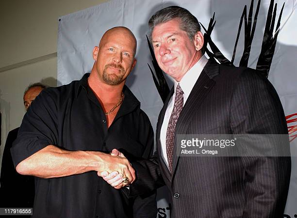 Stone Cold Steve Austin and Vince McMahon, chairman of WWE