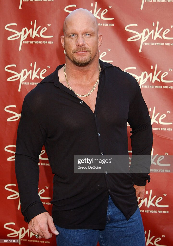 Stone Cold Steve Austin during Launch of Spike TV at the Playboy Mansion at Playboy Mansion in Los Angeles, California, United States.