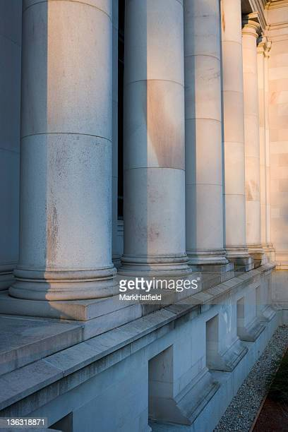 stone columns at washington state capitol - olympia washington state stock pictures, royalty-free photos & images
