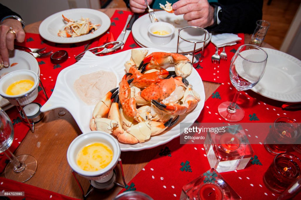 Stone crab dining : Stock Photo