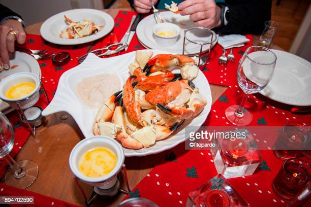 stone crab dining - crab leg stock photos and pictures