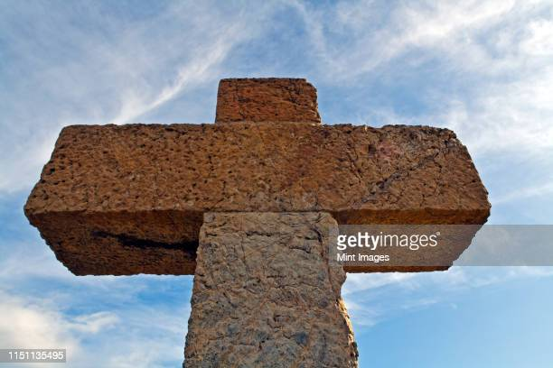 stone cross - evangelicalism stock pictures, royalty-free photos & images