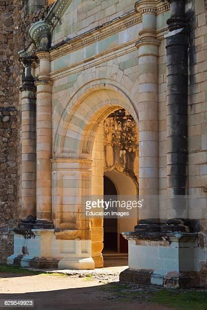 A Stone Doorway Of The 16Th Century Convent And Basilica Of Cuilapan The Former Monastery Of Santiago Apostol Cuilapan De Guerrero Mexico Near Oaxaca