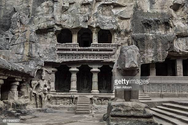 Stone elephant, Kailasa Temple, Ellora Caves