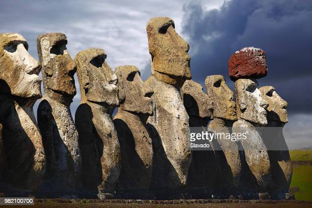 stone faces - unesco world heritage site stock pictures, royalty-free photos & images