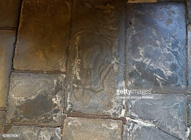 stone floor inside Anne Hathaway's Cottage where Anne Hathaway the wife of William Shakespeare lived as a child StratforduponAvon England The...