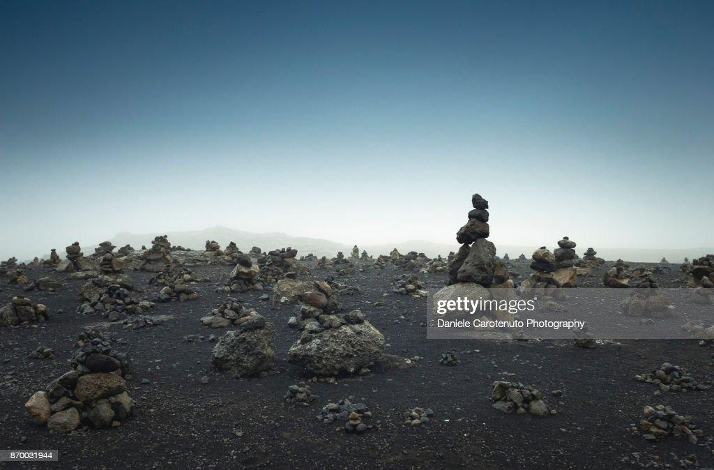 Stone heaps : Stock Photo