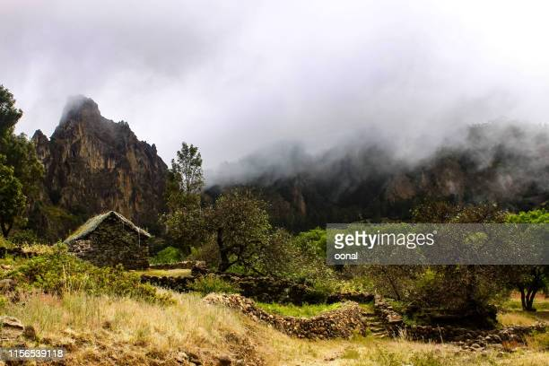 stone house and nature landscape - cape verde stock pictures, royalty-free photos & images