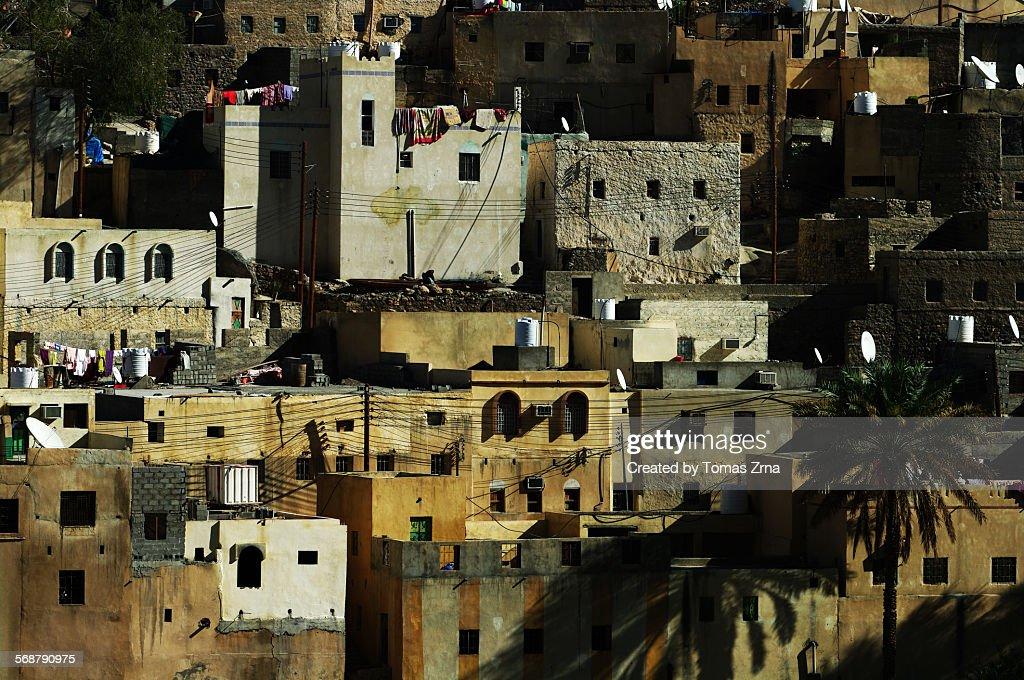 Stone houses of Balad Sayt : Stock Photo