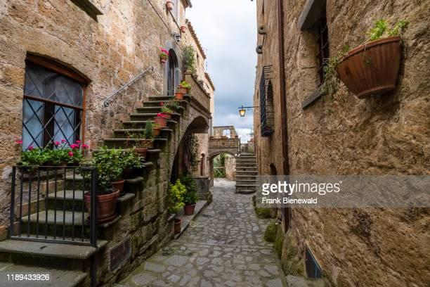 Stone houses of the old etruscan settlement Civita di Bagnoregio.